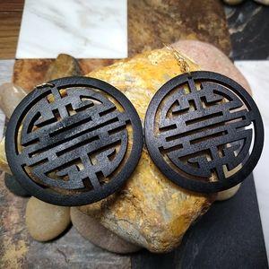 🐞2/$20 Wooden Japanese Earrings